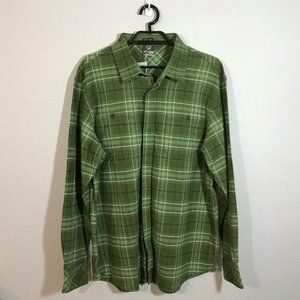 Merrell NWT Green/White Plaid Flannel Shirt